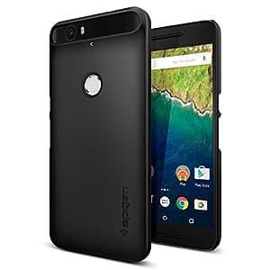 【Spigen】 Nexus 6P ケース, シン・フィット [ パーフェクト フィット ] ネクサス6P 用 カバー (ブラック SGP11814)