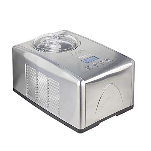コンプレッサー付きアイスクリームマシン| 150W、1.5L |フローズンヨーグルトおよびアイスクリームマシン、電子レシピ、LCD、タイマー、および冷却装置を含む