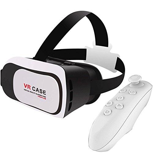 Gaosa 映画ゲーム ヘッドバンド付き ホワイト3Dメガネ 4.7〜5.5インチのスマートフォンに適用 頭部装着 Virtual Reality 各種スマートフォン対応 + VR アクセサリー(白)