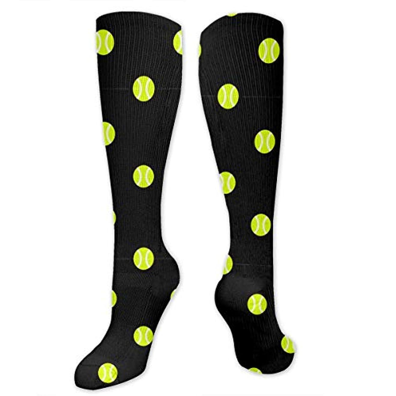 眠りタンパク質理想的靴下,ストッキング,野生のジョーカー,実際,秋の本質,冬必須,サマーウェア&RBXAA Tennis Ball Dot Black Socks Women's Winter Cotton Long Tube Socks...