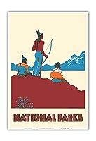 国立公園 - ネイティブアメリカン - ビンテージな世界旅行のポスター によって作成された ドロシー・ワー c.1935 - アートポスター - 33cm x 48cm