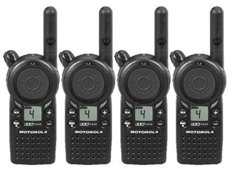 第時間マウントバンク4個パックMotorola cls1410 Two Way Radio Walkie Talkies (UHF)