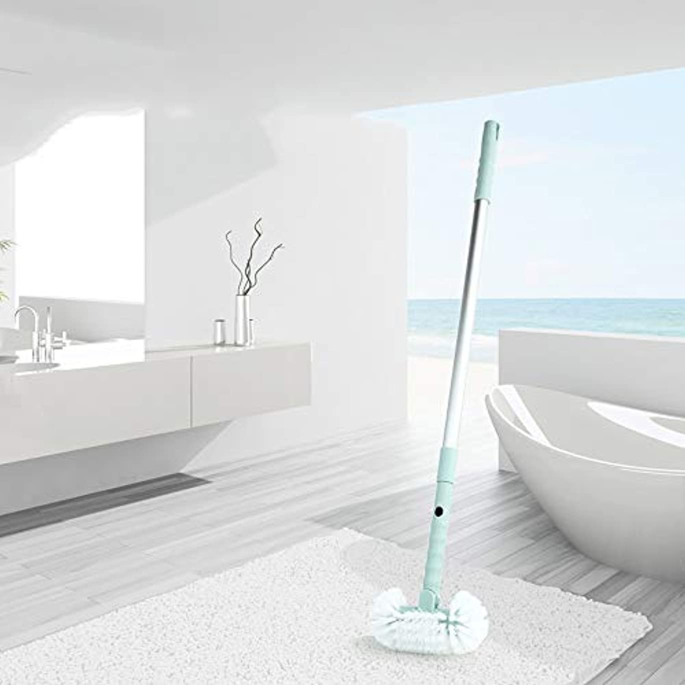 ポアクリーニング ホームバスルーム引き戻し可能なハードブラシトイレ浴室バスタブフロアクリーニングブラシ マッサージブラシ