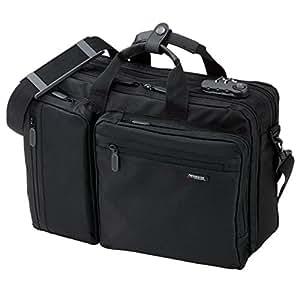 サンワダイレクト 3WAYビジネスバッグ マチ拡張 通勤 1~2日出張対応 A4 15.6ワイドPC収納 200-BAG048