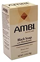 AMBI シアバターでスキンケアブラックソープ、3.5オズ(6パック)
