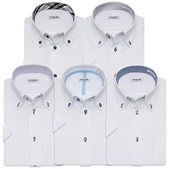 (アトリエサンロクゴ) atelier365 半袖 ワイシャツ 5枚セット 形態安定 ビジネス クールビズ/sa02-4L-47-SA02-Gset-SS-17