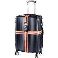 旅行/出張用 スーツケースベルト ダイヤル式 TSAロック付き 十字型 スーツケース固定用 セキュリティホルダー