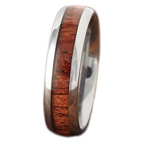BreezyIsland ハワイアンジュエリー リング コアウッド 指輪 タングステン (US9-JP18.5号)