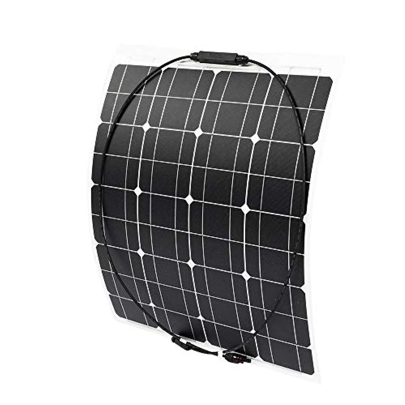離す裁定チーフソーラーパネル 防水セミフレキシブルな単結晶ソーラーパネル70W 18V 太陽光発電 (Color : Black, Size : 640x540x3mm)