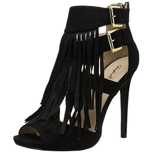 Qupid Women's Diamond-12 Dress Sandal Black 6 M US [並行輸入品]