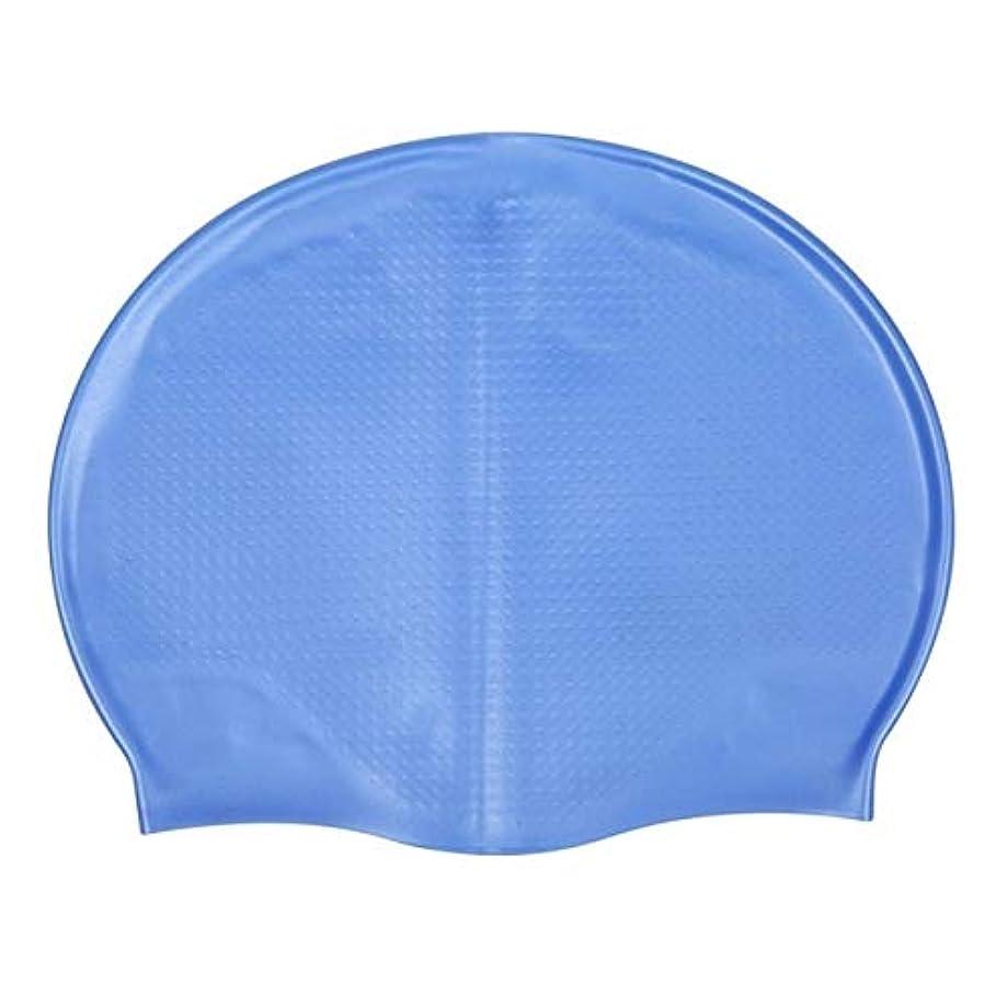 ヒゲ油慎重にHXBG シリコーンカラープリント水泳帽スイムキャップシニア環境保護シリコーン材料スイミング保護の機器 (Color : L, Size : One Size)