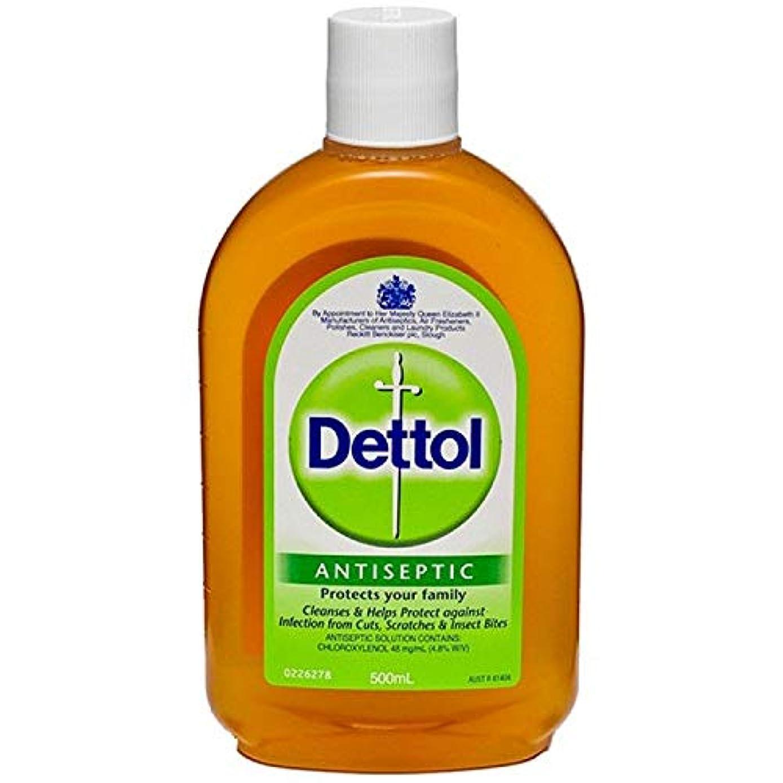 財政行き当たりばったりカナダDettol 殺菌消毒液 Antiseptic Liginal 500ml (海外直送品)