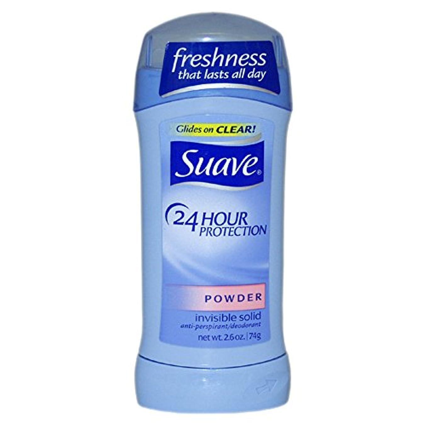 付与オープナー汚染スアーブ(Suave) 固形デオドラント スティック パウダーの香り 74g 2.6oz [並行輸入品]