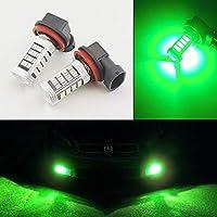 FidgetGear 2本の明るい緑H11 H8車トラックピックアップドライビングフォグランプ92-SMD LED電球