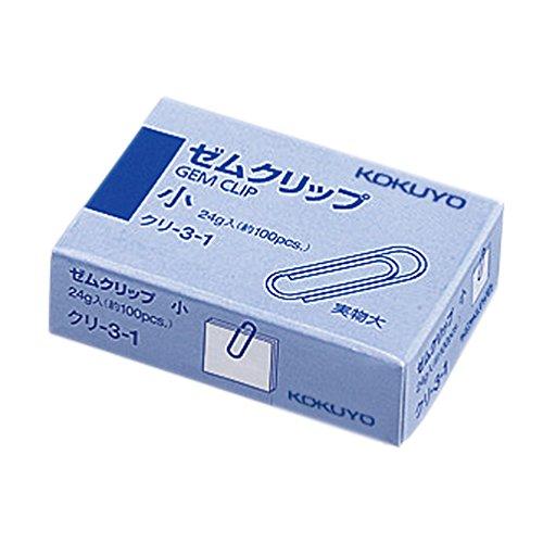 コクヨ クリップ ゼムクリップ 小(23mm) 約100本入 クリ-3-1