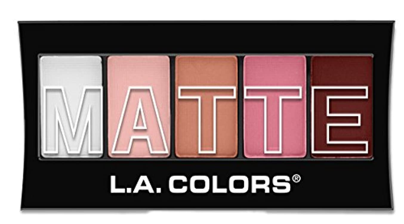 痛い好き七面鳥L.A. Colors Matte Eyeshadow - Pink Chiffon (並行輸入品)