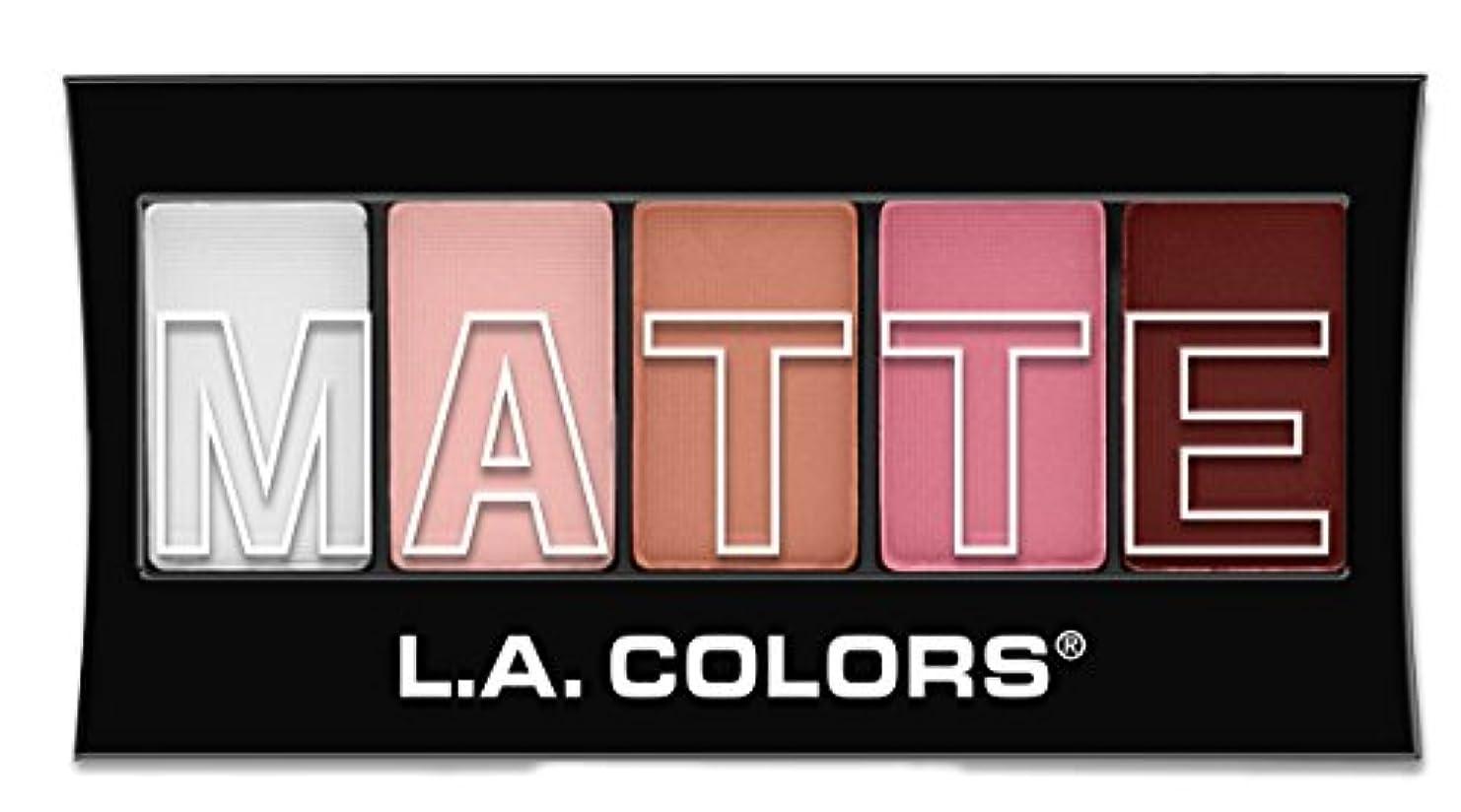 原稿愚か物足りないL.A. Colors Matte Eyeshadow - Pink Chiffon (並行輸入品)