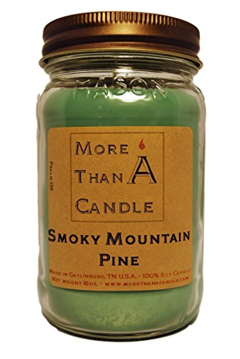軍モスクズームMore Than A Candle SMP16M 16 oz Mason Jar Soy Candle, Smoky Mountain Pine
