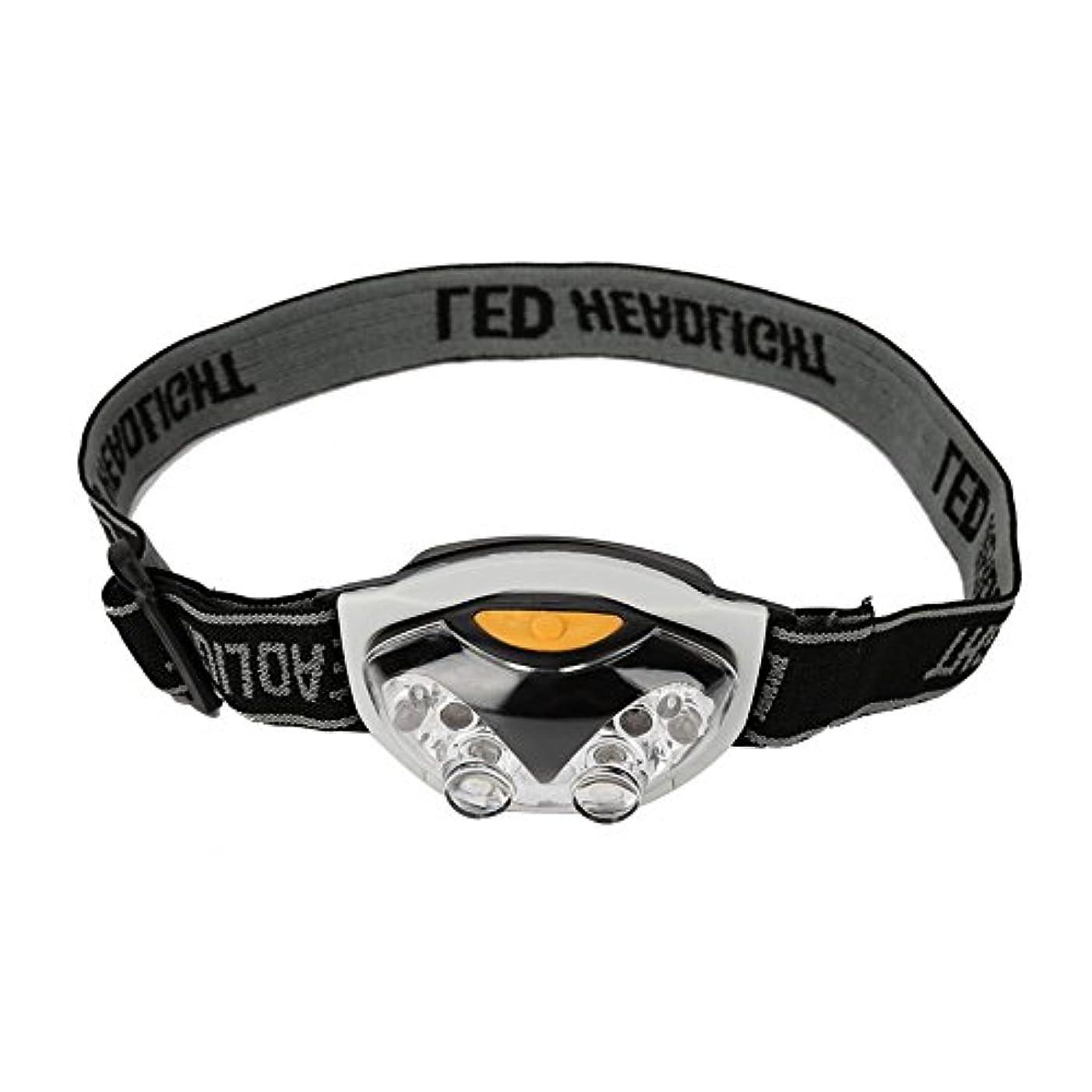 対応するつかの間深いヘッドライト LED 6つ電球 高輝度 防水 角度調節可能 200メートル 小型 SOSフラッシュ機能 アウトドア キャンプ 防災 登山 夜釣りに適用