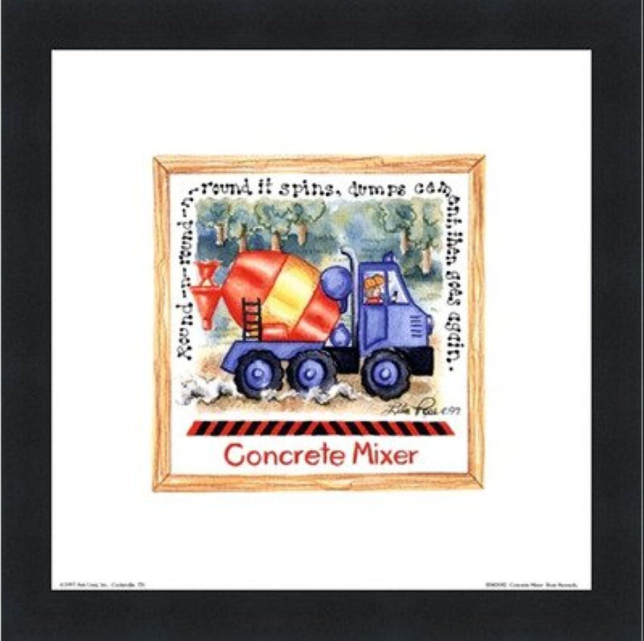 摘むどんなときも知事コンクリートミキサーby Lila Rose Kennedy – 8 x 8インチ – アートプリントポスター LE_391264-F101-8x8