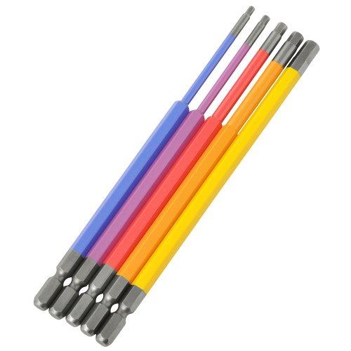 アネックス(ANEX) 六角レンチ カラービット 全長150mm 5本組 ACHX5-150L