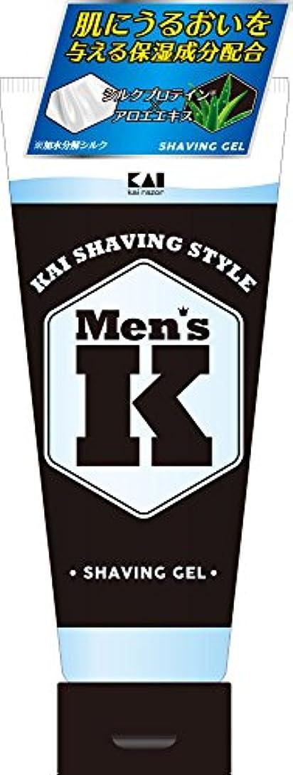配送三角形観察Men's K シルクプロテイン配合 薬用シェービングジェル 205g