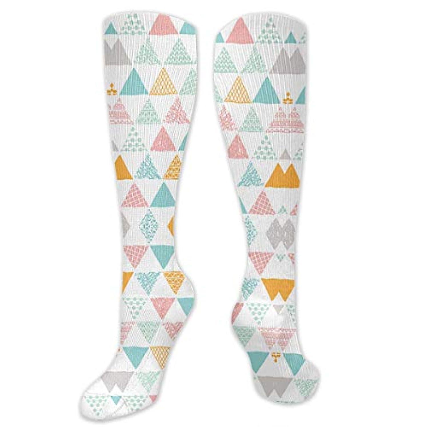 見つけた疲労発行靴下,ストッキング,野生のジョーカー,実際,秋の本質,冬必須,サマーウェア&RBXAA Geometric Triangle Pastel Colors Socks Women's Winter Cotton Long...