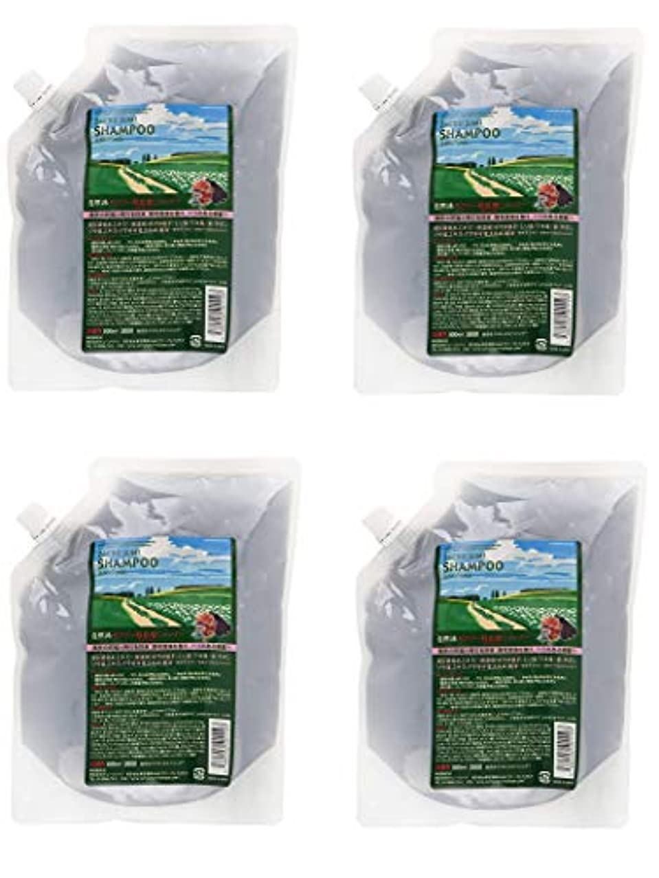 灌漑でる鷲【4個セット】サニープレイス ザクロ精炭酸シャンプー 800ml レフィル 詰替え用