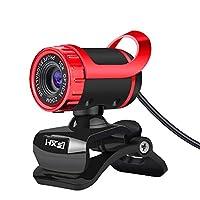 新しいA859 USB 2.0 HD 12.0MP ウェブカメラ PCとデスクトップ用内蔵マイク付き レッド