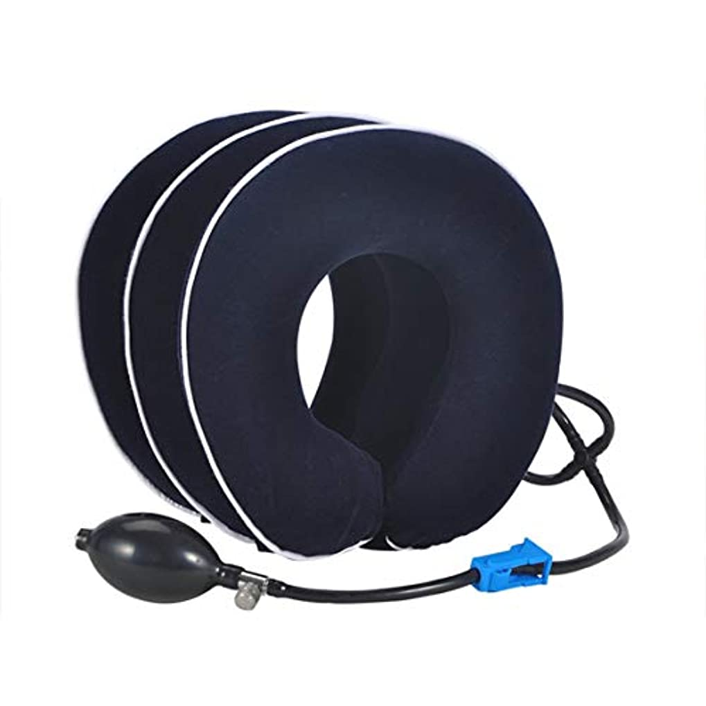 Intercoreyインフレータブルエア頸部首牽引首マッサージデバイス用頭痛頭の後ろ肩首の痛みヘルスケア機器