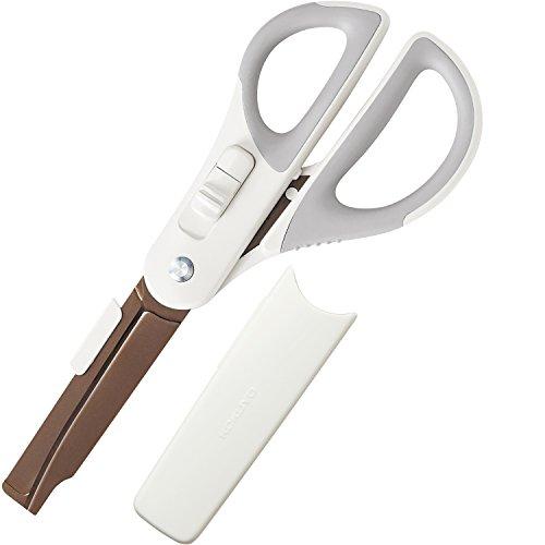 コクヨ ハサミ 2Way ハコアケ チタン グルーレス刃 ホワイト ハサ-PT410L1
