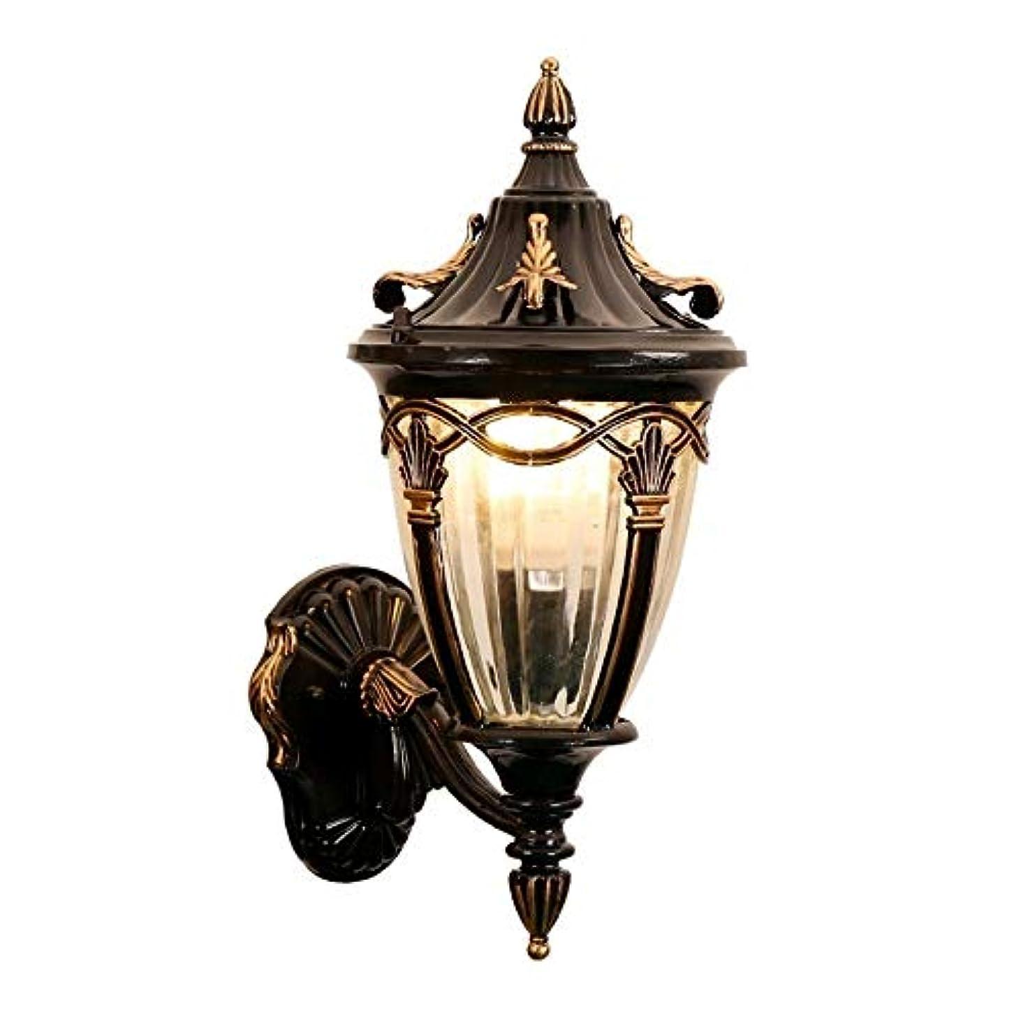 体こしょう香水DULG 地中海レトロな屋外防水ポーチの壁の照明は、花のバルコニーの壁取り付け用燭台ヴィラの庭の装飾グリッドストライプガラスウォールランタンパティオ防錆エクステリア壁ランプ16.1インチを指摘しました