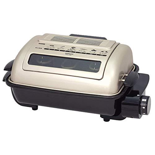 山善 ワイドグリル フィッシュロースター 魚焼きグリル ゴールド NFR-1100 G