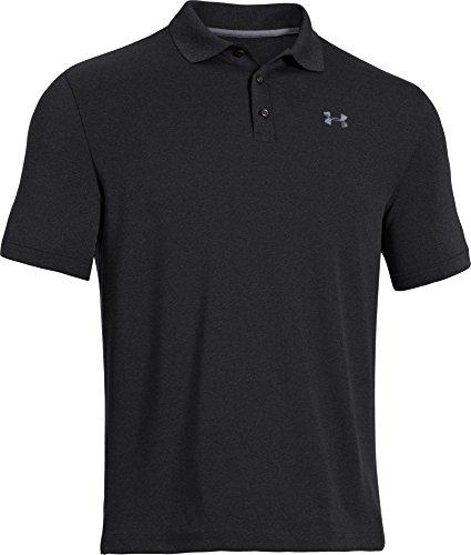 (アンダーアーマー)UNDER ARMOUR パフォーマンスポロ(ゴルフ/ポロシャツ/MEN)[1242755]BLACK/STEEL LG(日本サイズL相当)