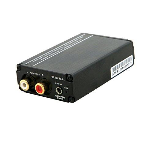 S.M.S.L SD-192PRO 高品質 ステレオオーディオデコーダ DACオーディオデコーダ ACアダプター付き