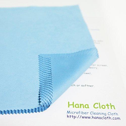Hana Cloth マイクロファイバークロス 20枚セット (スカイブルー・15cmx18cm)