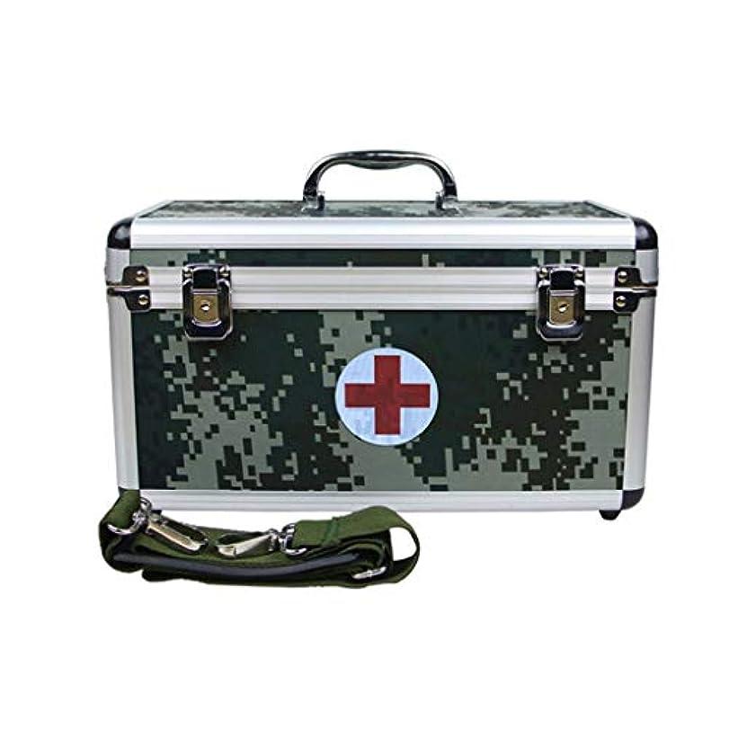 内訳ソーシャル必要ない薬箱携帯用世帯の緊急のアルミ合金の箱多層セキュリティロックの救急箱緊急の薬貯蔵のオフィスの薬
