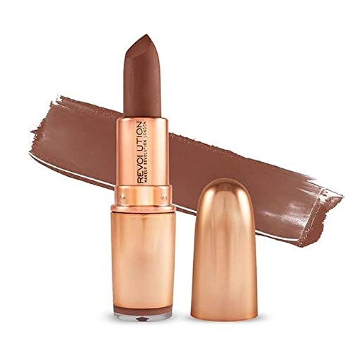 行為熱狂的な刺す[Revolution ] 革命の象徴的なマットヌード口紅のインスピレーション - Revolution Iconic Matte Nude Lipstick Inspiration [並行輸入品]