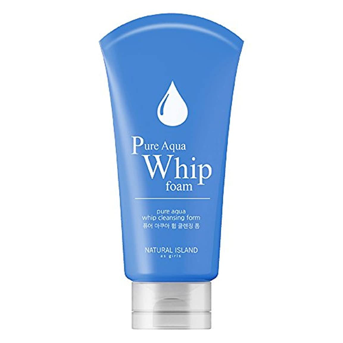ミッション偽善者最少Natural Island Pure Aqua Whip Cleansing Foam 120ml/ナチュラルアイランドピュアアクアホイップクレンジングフォーム120ml [並行輸入品]