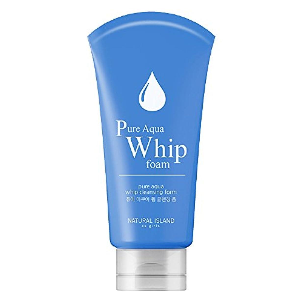 と反応する公爵Natural Island Pure Aqua Whip Cleansing Foam 120ml/ナチュラルアイランドピュアアクアホイップクレンジングフォーム120ml [並行輸入品]