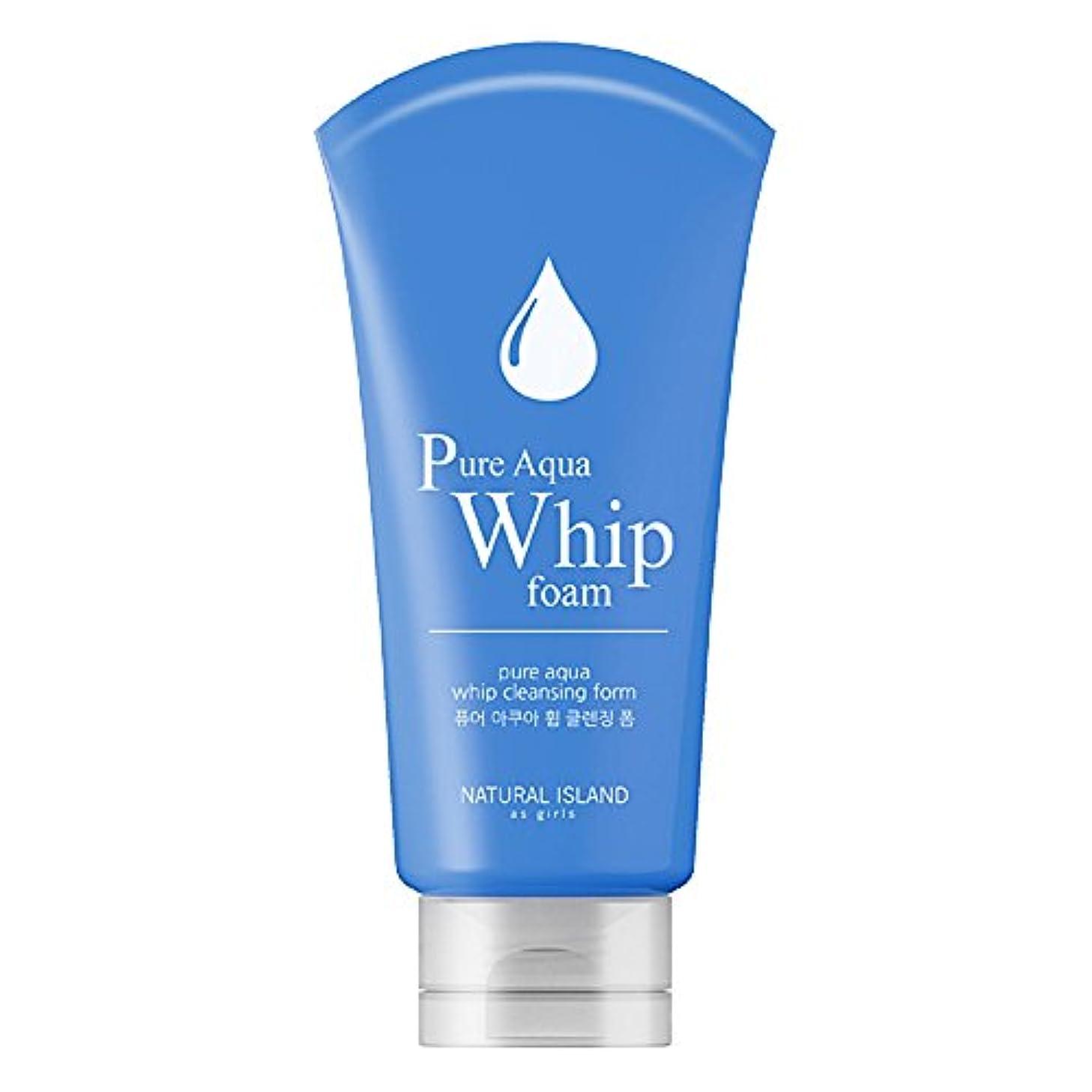 ペルメルフラグラント小麦Natural Island Pure Aqua Whip Cleansing Foam 120ml/ナチュラルアイランドピュアアクアホイップクレンジングフォーム120ml [並行輸入品]