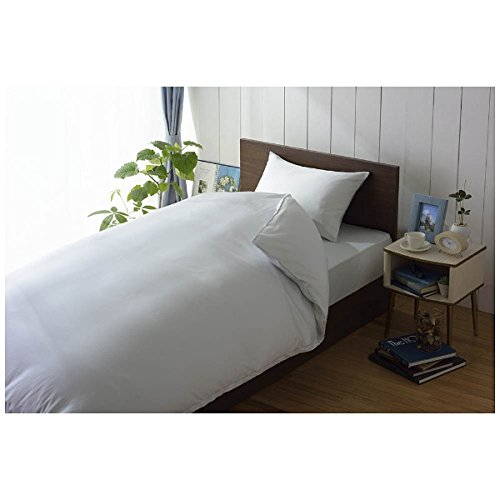 80サテンまくらカバー 小さめサイズ(綿100%/40×80cm/ブルー)