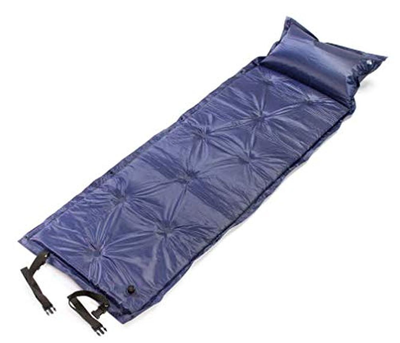 怒る定期的に表現Chaopen 自動インフレータブルクッションキャンプ屋外水分パッドポータブル肥厚睡眠パッド折りたたみパッドはダブルインフレータブルベッドをステッチすることができます