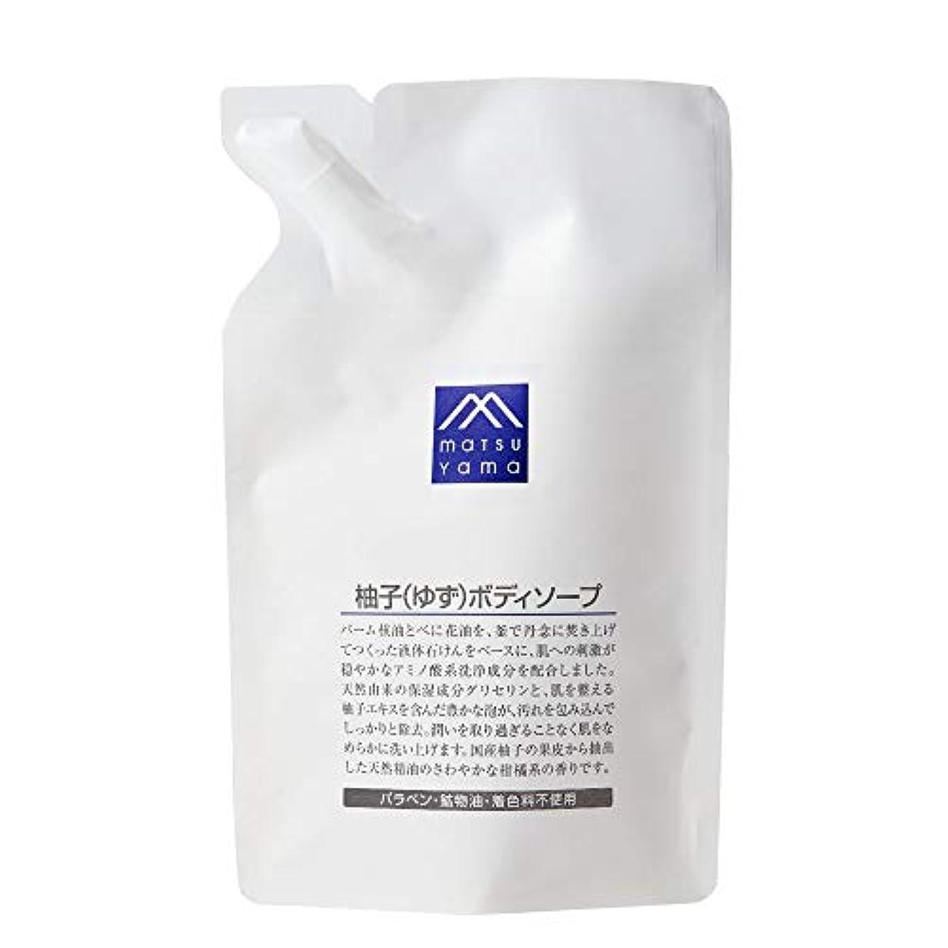 電極電極頬骨M-mark 柚子(ゆず)ボディソープ 詰替用