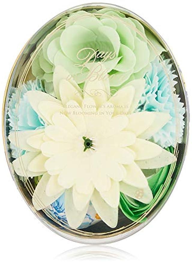日付付きスティーブンソン後退するデイズインブルーム バスセットオーバル ガーデニア (入浴料 お花の形のバスギフト)
