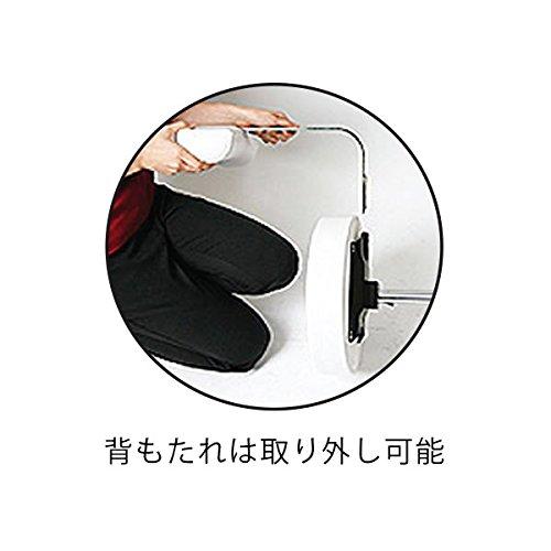 背もたれ付 低反発 スツール DX 高さ42~54cm ホワイト [ エステスツール キャスター付き 背もたれ付き 昇降式 オフィスチェア 丸椅子 スツール イス 椅子 チェア ]