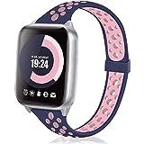 Busybee コンパチブル Apple watch バンド アップルウォッチ バンド シリコン スポーツバンド iWatch Series 6/5/4/3/2/1/SE対応 38mm 40mm 柔らかい 交換ベルト 通気 防汗(38mm/40mm,