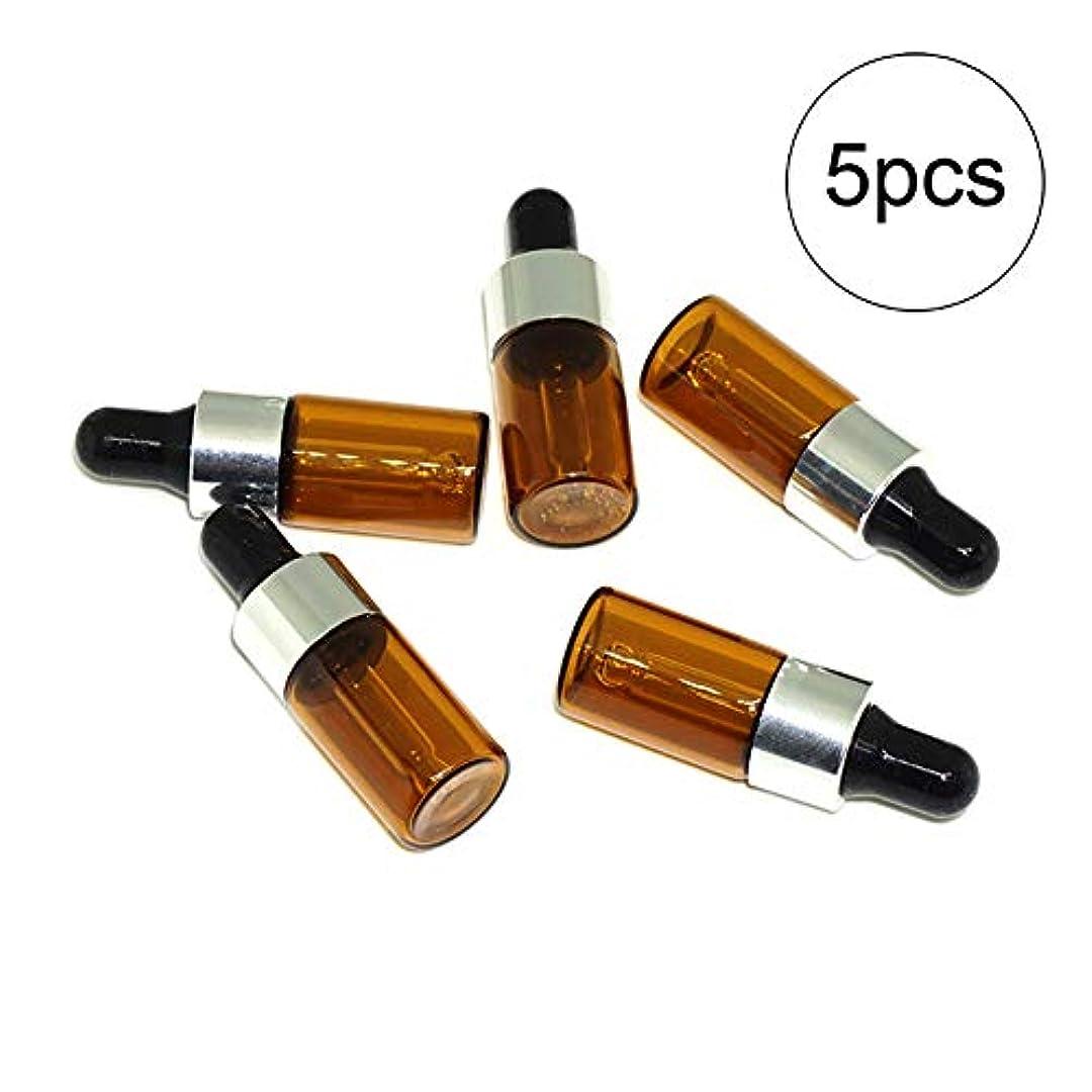 謙虚な巡礼者コカイン5PCS 3ML Brown Perfume Essential Oil Refillable Bottle With Dropper Pipettes Sub-Bottle With Clear Glass Eye Pipettes...