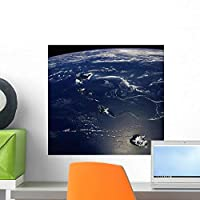 Hawaii from Space Wall Mural by Wallmonkeys Peel and Stick Graphic (18 in W x 18 in H) WM358786 [並行輸入品]