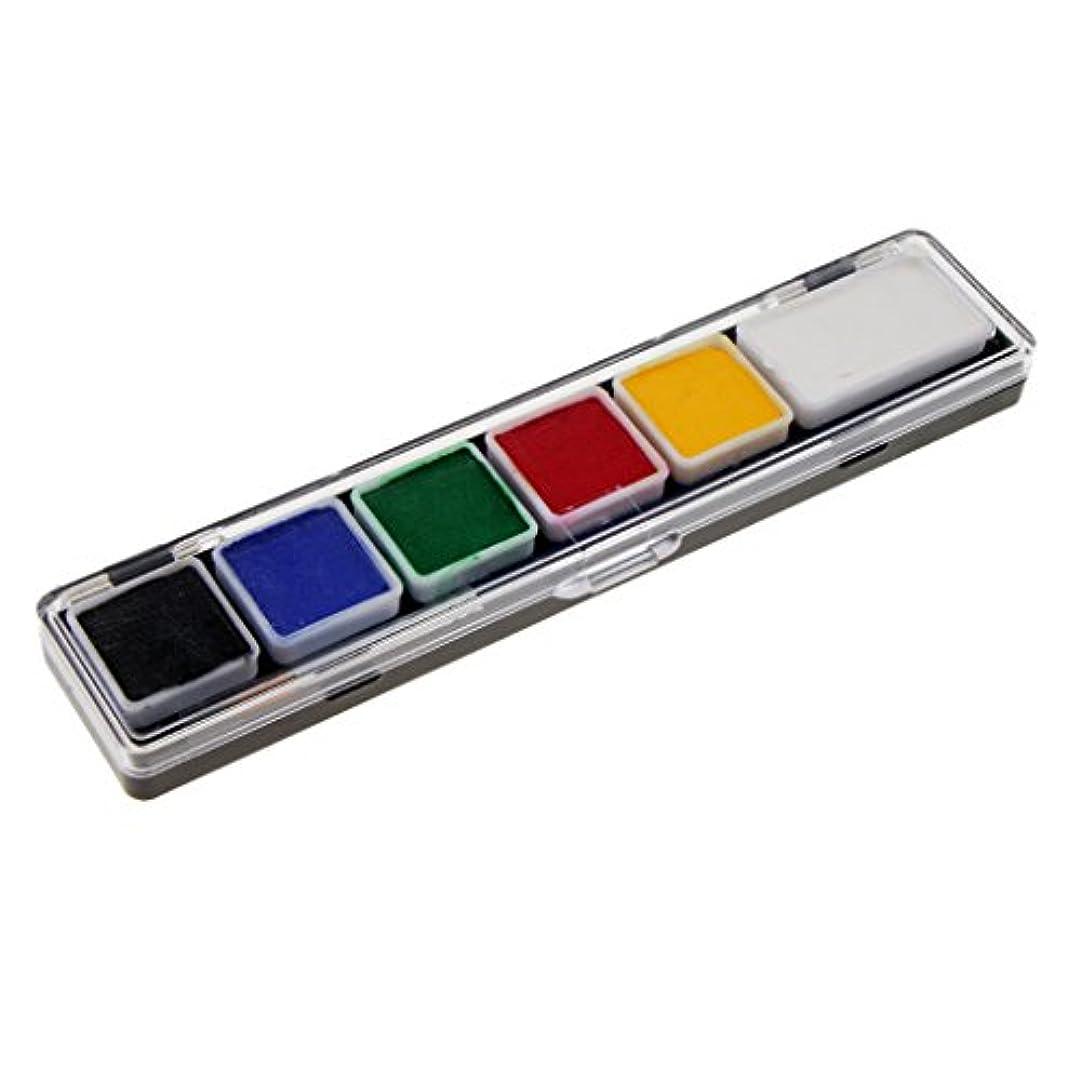 商標閉塞話すSM SunniMix フェイスペイントパレット ボディーペイント パレット 絵具 6色セット コスプレ仮装用 防水 全6種 - RT005A